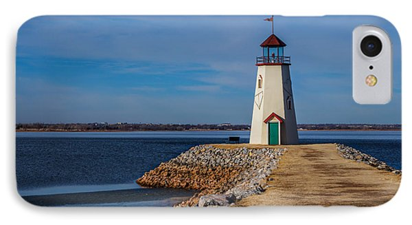 Lighthouse At East Wharf IPhone Case