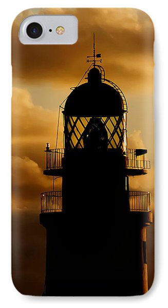lighthouse dawn in the north coast of Menorca IPhone Case