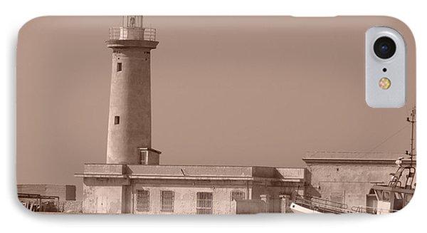Lighthouse Marsala IPhone Case