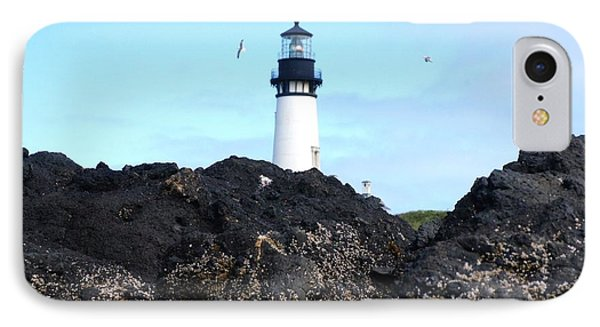 Lighthouse On A Hill IPhone Case