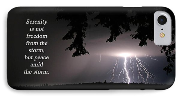 Lightning At Night - Inspirational Quote IPhone Case