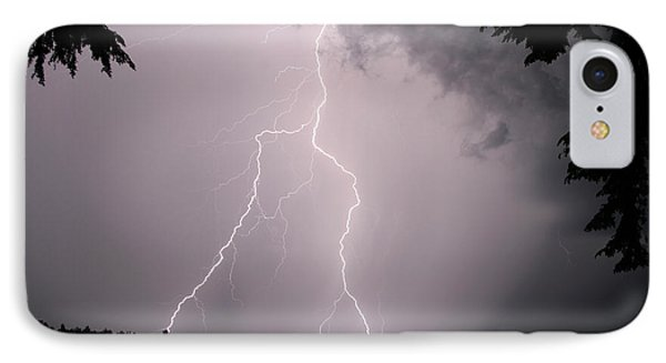Lightning At The Lake IPhone Case