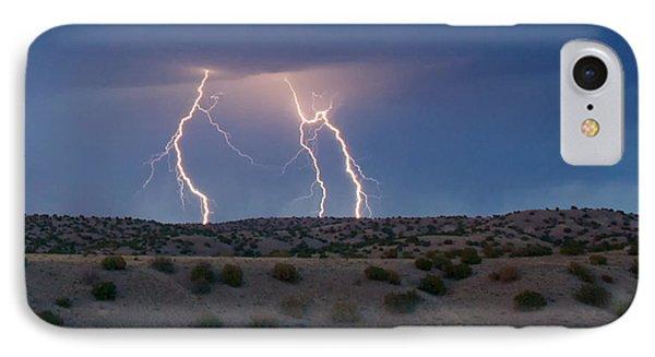Lightning Dance Over The New Mexico Desert IPhone Case