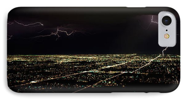 Lightning In The Sky Over A City IPhone Case