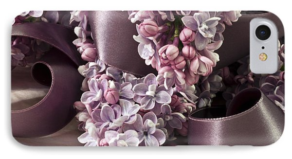 Lilac And Ribbon Curls IPhone Case
