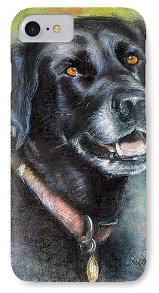 Lily- Black Labrador Retriever IPhone Case