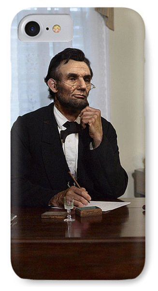 Lincoln At His Desk 2 IPhone Case