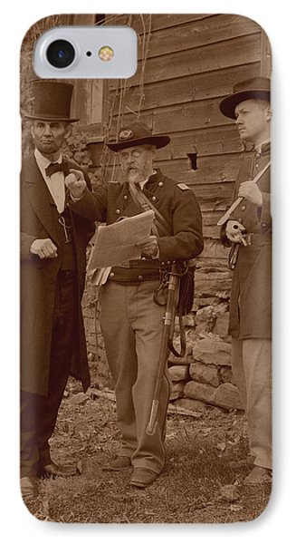 Lincoln In The Field IPhone Case
