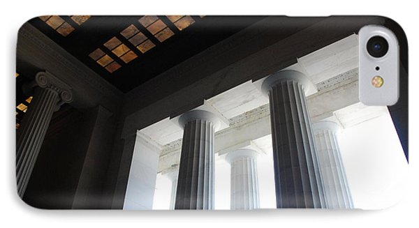 Lincoln Stained Glass And Columns IPhone Case