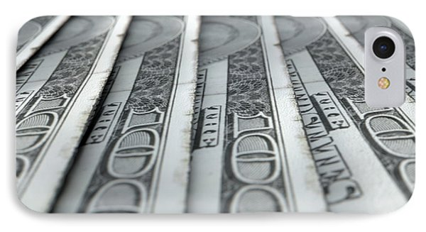 Lined Up Close-up Banknotes IPhone Case