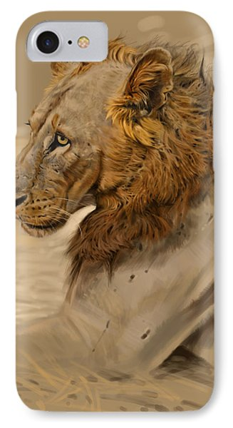 Africa iPhone 8 Case - Lion Portrait by Aaron Blaise
