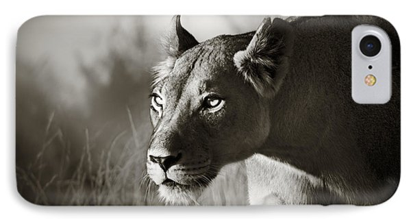 Cat iPhone 8 Case - Lioness Stalking by Johan Swanepoel
