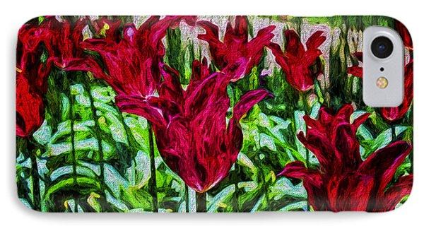 Lipstick Tulips IPhone Case