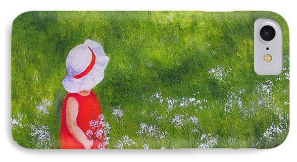 Girl In Meadow IPhone Case