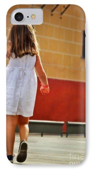 Little Girl In White Dress IPhone Case