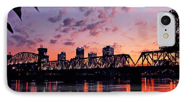 Little Rock Bridge Sunset IPhone Case