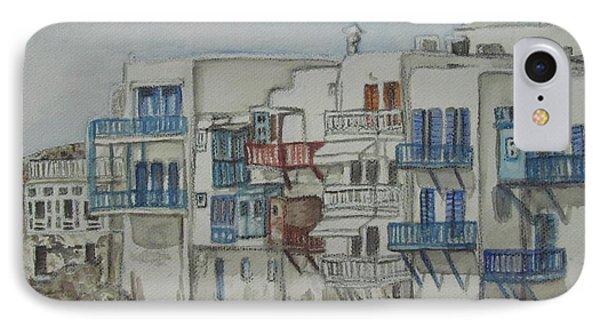 Little Venice Mykonos Greece IPhone Case