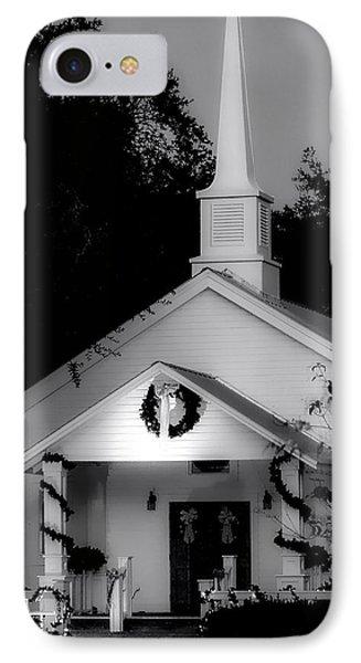 Little White Church Bw IPhone Case