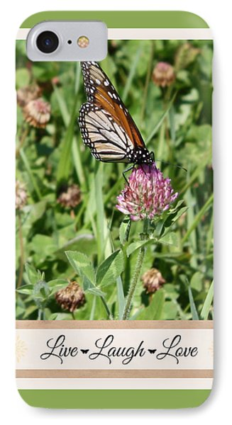 Live Laugh Love Butterfly IPhone Case