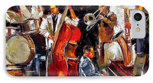 Trombone iPhone 8 Case - Living Jazz by Debra Hurd