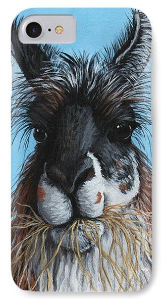 Llama Portrait IPhone Case