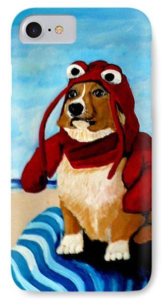 Lobster Corgi On The Beach IPhone Case