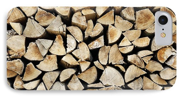 Logs Background IPhone Case