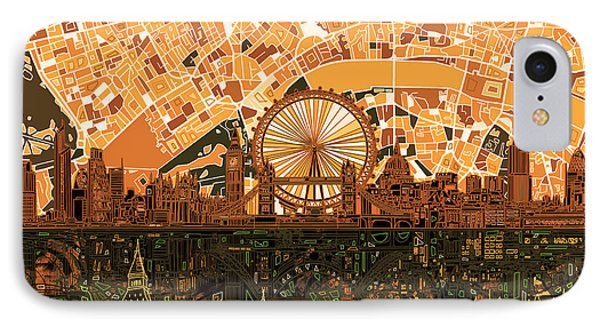 London Skyline Abstract 7 IPhone Case
