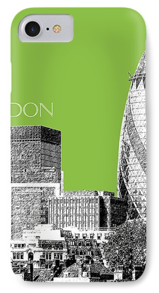 London Skyline The Gherkin Building - Olive IPhone Case
