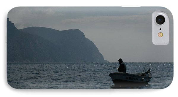 Lonely Fisherman IPhone Case