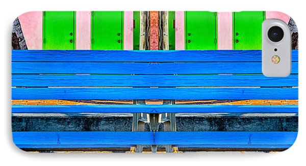 Long Blue Bench IPhone Case