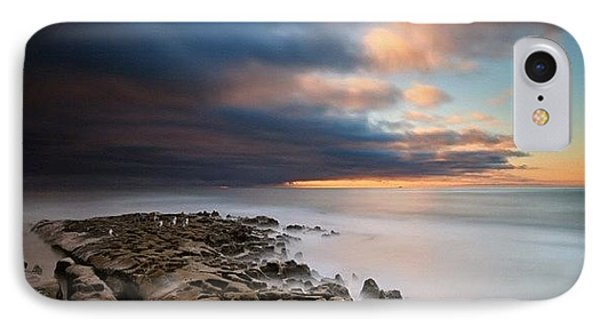 iPhone 8 Case - Long Exposure Sunset Of An Incoming by Larry Marshall