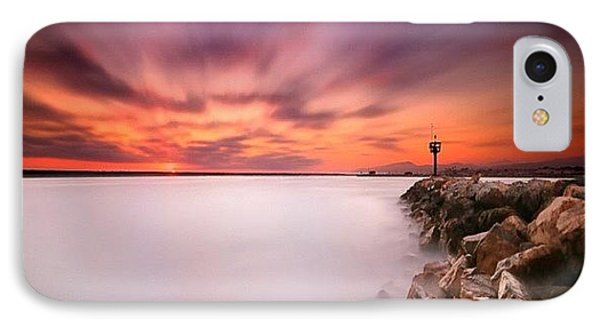 iPhone 8 Case - Long Exposure Sunset Shot At A Rock by Larry Marshall