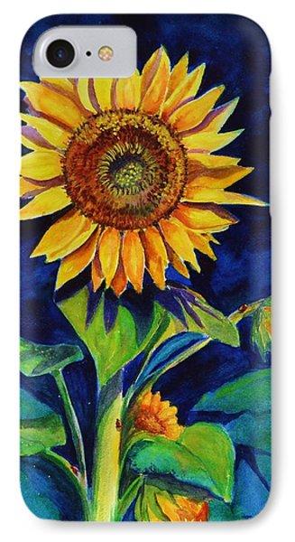 Midnight Sunflower IPhone Case
