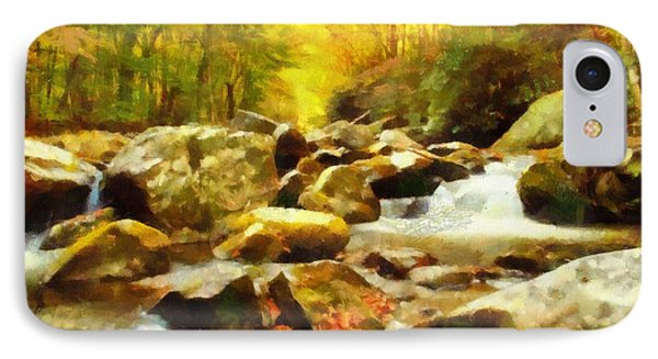Looking Down Little River In Autumn IPhone Case