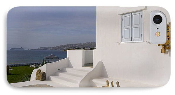 Looking Out To Sea In Mykonos IPhone Case