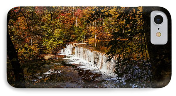Looking Through Autumn Trees On To Waterfalls Fine Art Prints As Gift For The Holidays  IPhone Case