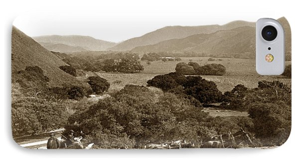 Looking Up The Carmel Valley California Circa 1880 IPhone Case