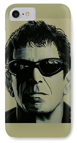 Rock And Roll iPhone 8 Case - Lou Reed Painting by Paul Meijering