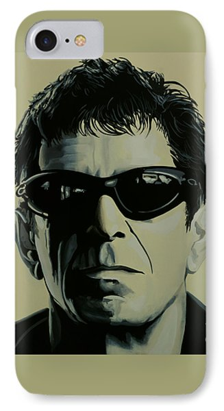 Lou Reed Painting IPhone Case