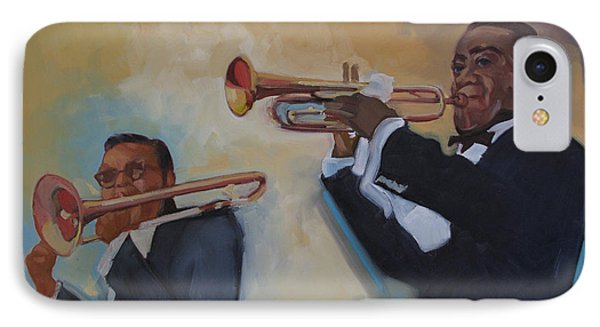 Louis Armstrong With Russell Big Chief Moore                       IPhone Case