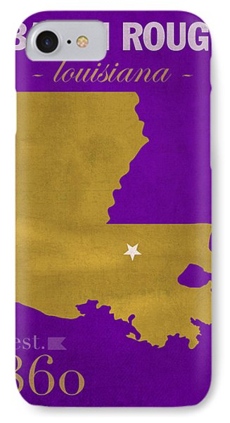 Louisiana State University Tigers Baton Rouge La College Town State Map Poster Series No 055 IPhone Case