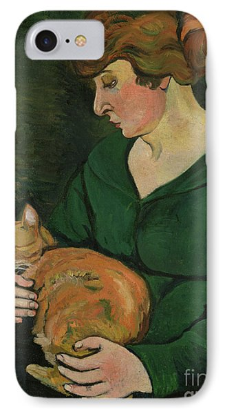 Cat iPhone 8 Case - Louison E Raminou by Marie Clementine Valadon