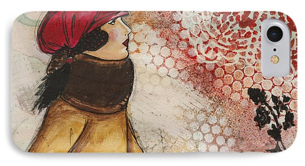 Love Inspirational Mixed Media Folk Art IPhone Case