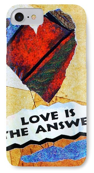 Love Is The Answer Collage IPhone Case