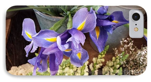 Lovely Purple Irises IPhone Case
