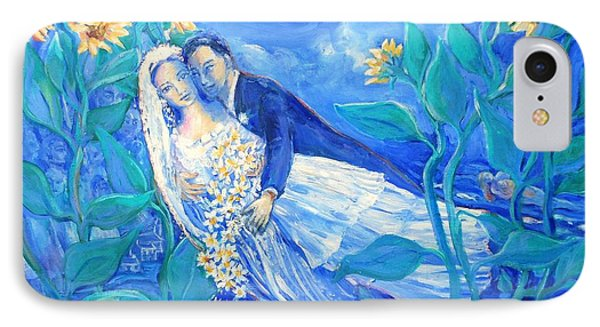 Lovers And Sunflowers  After Marc Chagall  IPhone Case