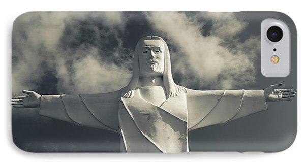 Low Angle View Of Statue Of Christ IPhone Case