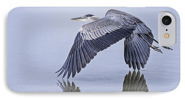 Low Flying Heron IPhone Case