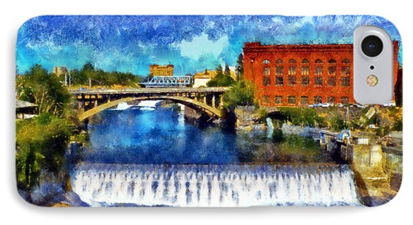 Lower Spokane Falls IPhone Case